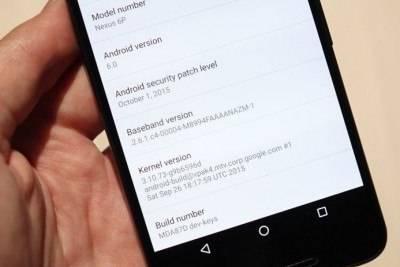Android 6.0 Marshmallow отображает дату последнего обновления системы безопасности