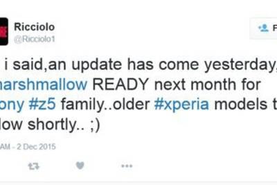 Sony Xperia Z5 перейдет на Android 6.0 в январе