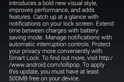 Nexus 4 получил обновление с операционной системой Android 5.0