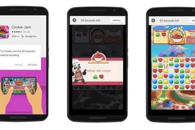 Новый мобильный формат рекламы от Google позволит вам попробовать приложение в течение 60 секунд без установки на девайс.