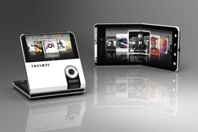 Samsung запатентовала складной смартфон с гибким дисплеем.