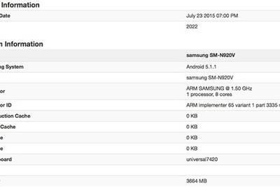 Бенчмарк подтвердил характеристики Samsung Galaxy Note 5