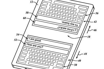 Блогеры обнаружили у Google необычный патент — текстовый переводчик с двумя клавиатурами