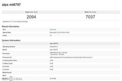 Helio X20 продемонстрировал свое превосходство в бенчмарке GeekBench