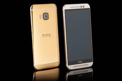 HTC One M9 одели в 24 карата золота