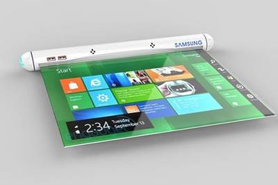 Концепт планшета от Samsung с OLED-дисплеем - самым гибким и тонким LED экраном