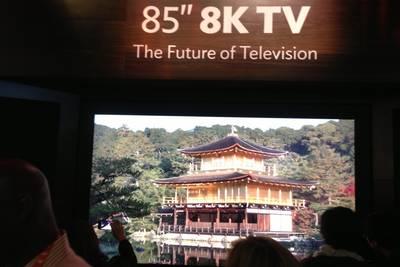 Любителям качества на заметку: 8K-телевизор от Sharp будет стоить больше 134 тысяч долларов