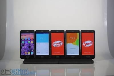 На Elephone p5000 можно будет установить 6 разных прошивок
