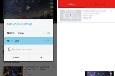 Приложение YouTube обзавелось поддержкой оффлайнового режима