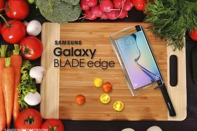 Samsung анонсировала Galaxy Blade Edge – первый в мире «умный» нож для фанатов Instagram