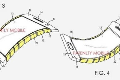 Samsung патентует новую разработку — гнущийся смартфон