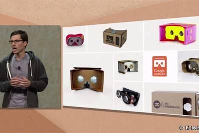 В прошлом году на Google I/O 2014 был представлен картонный Card Board: систему виртуальной реальности для смартфона
