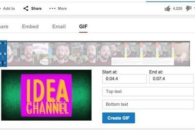 В YouTube появился создатель GIF