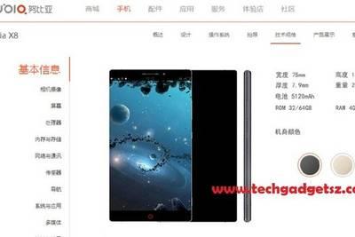 ZTE готовит новый флагман X8, который получит АКБ 5120, 4 ГБ ОЗУ и QHD-экран