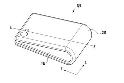 В эскизах Samsung представлена еще одна концепция складного телефона