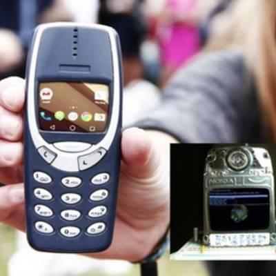 Умельцы засунули в Nokia 3310 железо телефона на Андроиде.