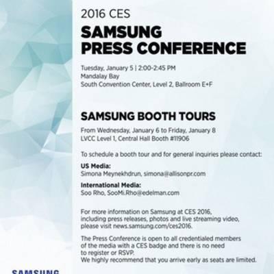 Samsung обнародовала детали предстоящей презентации