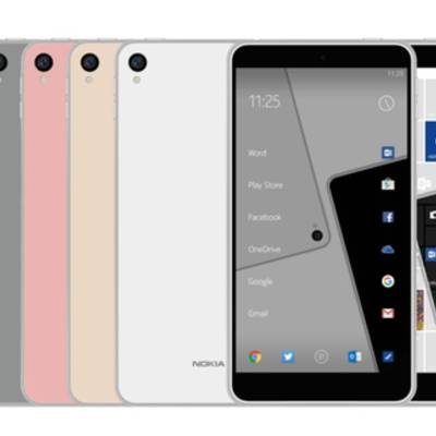 Смартфон Nokia C1 на качественном рендере
