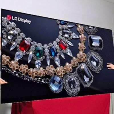 LG демонстрирует первый в мире 88-дюймовый OLED-дисплей 8K