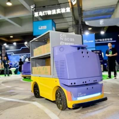 Alibaba создала беспилотного робота для доставки посылок