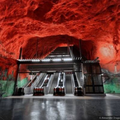 #галерея | Метро Стокгольма: одно из самых футуристичных мест на Земле