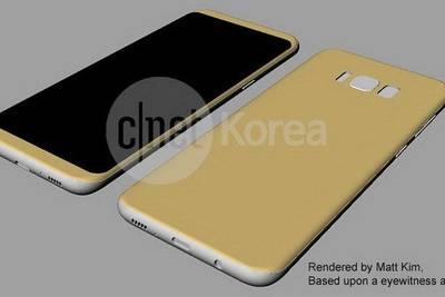 В Интернете появились схематичные изображения нового флагманского смартфона Samsung Galaxy S8.