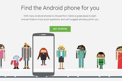 Google в рамках рекламной кампании «Be together not the same» выпустила сервис по подбору идеального Android-смартфона.