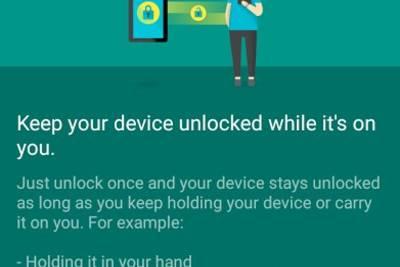Google тестирует новый режим смарт блокировки под названием on-body detectionя.