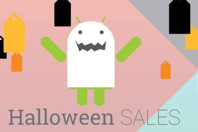 Распродажа в честь Хэллоуина.