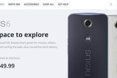 Android-смартфон Nexus 6 можно будет заказать на сайте Motorola