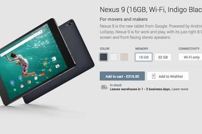 Google Nexus 9 доступен для покупки в Play Store