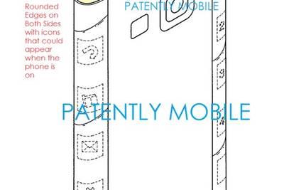 Samsung патентует загнутый с двух сторон экран