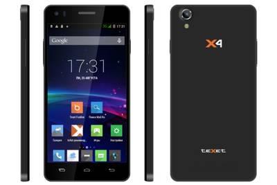 Тонкий и недорогой смартфон teXet X4 вышел в продажу